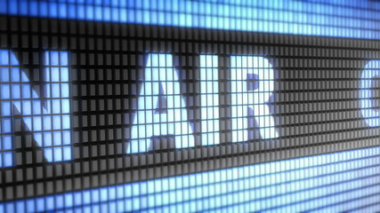 """ON AIR"" on screen. Looping."