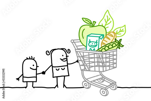 shopping cart & bio food