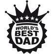 Worlds Best Dad Logo