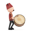 3D Traditional Ramadan Drummer