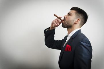businessman with handkerchief