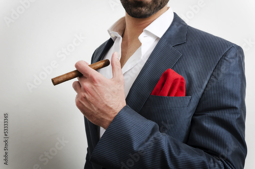 businessman with handkerchief