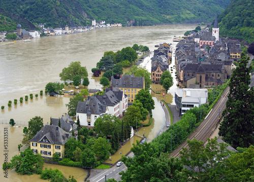 Hochwasser in St. Goar am Rheim