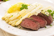 Spargel mit Steak