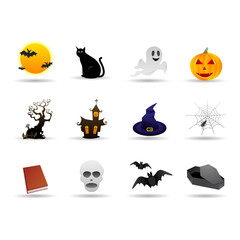 Halloween friendly vector icon