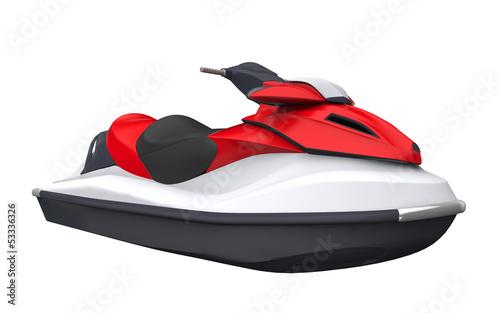 Fotobehang Water Motorsp. Jet Ski Isolated on White Background