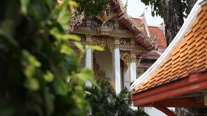 Buddhist  Temple in Pattaya City, Thailand. Two shots.