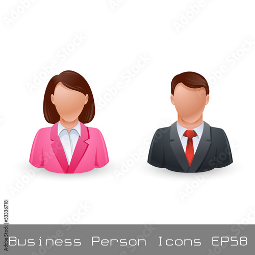 Vector Illustration Business Person User Icon