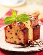 Slices of fruit cake