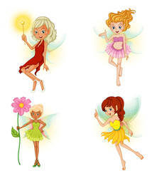 Four beautiful fairies