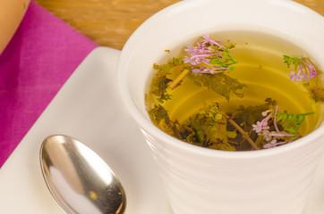 Herbal tea closeup