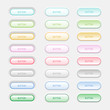 Web Elements Vector Button Set