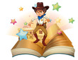 A book with a cowboy and stars