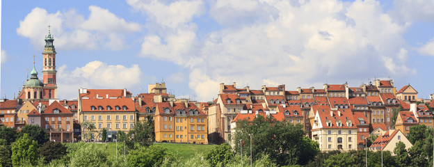 Old Town in Warsaw, Panorama
