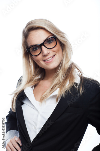Pretty blond businesswoman