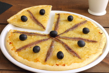 Pissaladière, with onion, black olives and anchovies