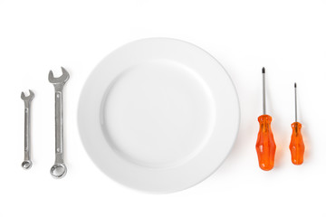 Plate With Wrenches And Screwdrivers