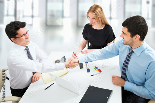 Handshake on business meeting