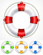 Color life buoy on white