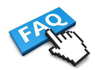 FAQ button and hand cursor