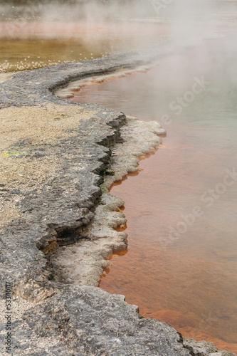 mineral deposits on edges of Champagne pool