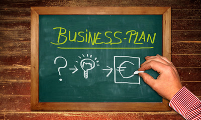 Kreidetafel - BUSINESS-PLAN