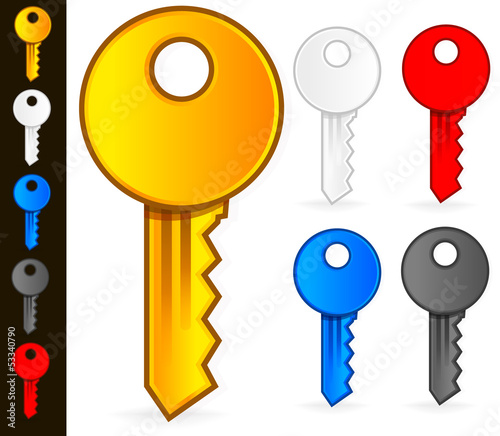 Stylish, Modern Key Icons