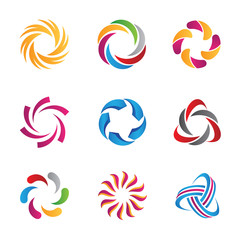 Abstract loop logo and icon template
