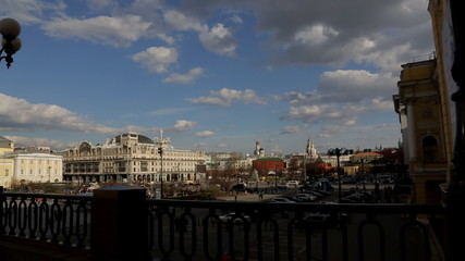 Moscow Theater Square panorama