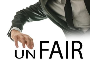 Changing word Unfair into Fair