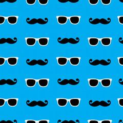 Sunglasses&moustache pattern
