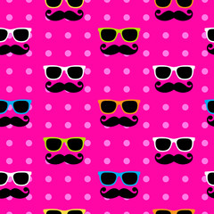 Sunglasses&moustache pattern