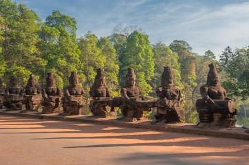 Gate guardians, Angkor, Cambodia