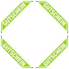 """4 Banner """"Gutschein"""" grün"""