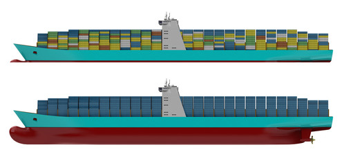 Container ship side