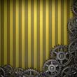 gear wheels on yellow background