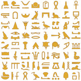 Egyptian hieroglyphs Decorative Set 2