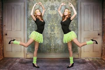 Strange dancing woman