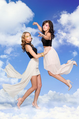Women in clouds