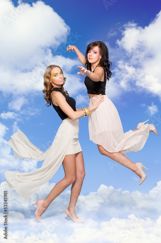 Women in clouds