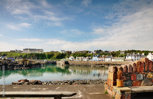 Portpatrick harbour on a summer day