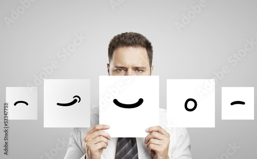 paper with smile