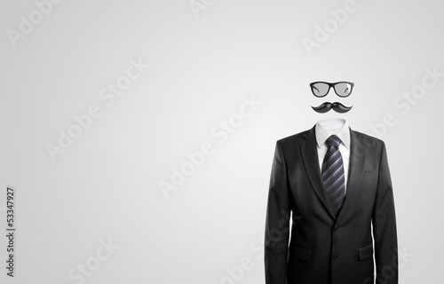 moustache and glasses