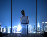 woman standing in office