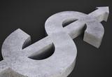 concrete dollar symbol