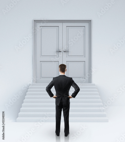 businessman and  doors