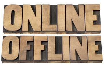 online and offline words