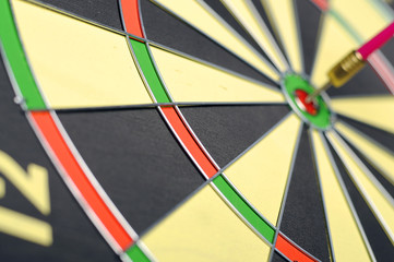 Dart Arrows In The Target