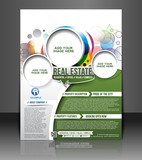 real estate brochure, flyer, magazine cover & poster template