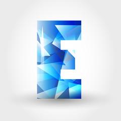 blue crystalline letter E